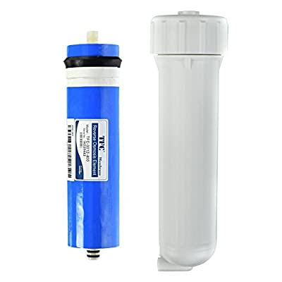 iSpring MC4+NW14 2.8-Inch x 12-Inch 400GPD Commercial Reverse Osmosis Membrane with Housing