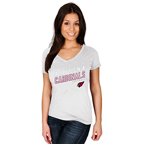 Profile Big & Tall NFL Arizona Cardinals Adult Women NFL Pluscardinals S/Cotton V Neck Te,3X,White