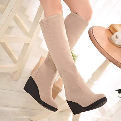 Top Platform Moda invernali le Donna Snow donne Boot Stivali e per Zeppa Beige Zeppe Kaiki Stivali CqUORR