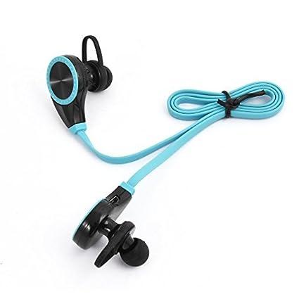 eDealMax Deporte sudor Prueba de reducción de ruido auriculares estéreo inalámbrico Bluetooth Auricular Azul