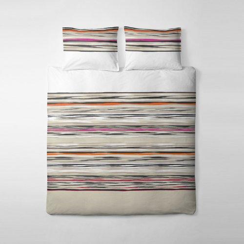 etérea Renforcé Baumwolle Bettwäsche Modern Streifen Muster Sand, 135x200 cm