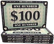 Poker Chip Ceramic Plaques | The Cash Club Design | 40 Gram Weight