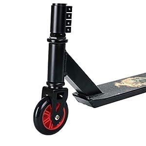 BOLDCUBE Trottinette Freestyle Pro 2 Roues – Résistante aux Acrobaties et Sauts – Rotation à 360 Degré – Barre Fixe – Pont léger en Aluminium – ABEC 7 Roulements – pour Adultes et Enfants