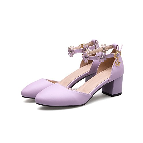 Weight Sandals Toe Closed Womens Urethane ASL04437 BalaMasa Light Sandals Purple Solid Y84WWqn