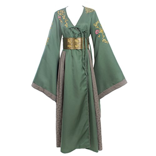 Cersei Costume For Sale (CosplayDiy Women's Dress Costume for Game of Thrones Cersei Lannister Green XS)