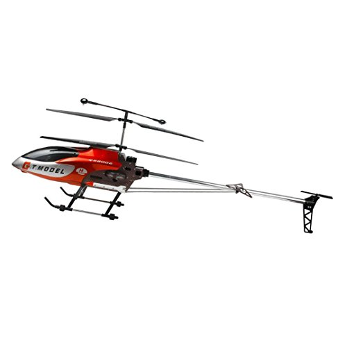 NiGHT LiONS TECH 53 Inch Extra Large GT QS8006 Speed 3.5 Ch Big RC Helicopter Builtin Gyro drone (red)