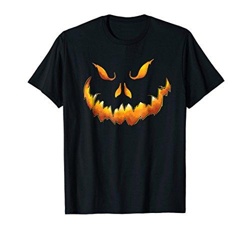 Scary Pumpkin Face Halloween Jack O' Lantern T-Shirt