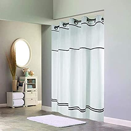 Image Unavailable Not Available For Color Hookless Monterey Hotel Quality Shower Curtain With Snap In Liner