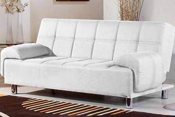 Divano In Lino Bianco : Gstore divano in ecopelle 3 posti braccioli regolabili in altezza