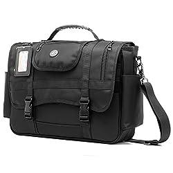 CoolBELL Messenger Bag Briefcase Shoulder bag Laptop Case Sport Handbag Business Briefcase Multi-functional Travel Bag Fits 15.6 Inch Laptop For Men/Women (Black)
