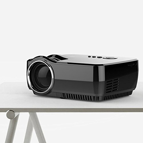 C&C Products GP70 LCD Portable LED Projector 1080P Full HD 1200 Lumens HDMI USB FHD SD Home Theater Beamer by C & C