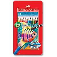 Faber-Castell 5170115929 Metal Kutu Aquarel Boya Kalemi, 12 Renk