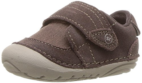 Stride Rite Boys' Soft Motion Kellen Sneaker, Chocolate, 3 Extra Wide US Infant ()