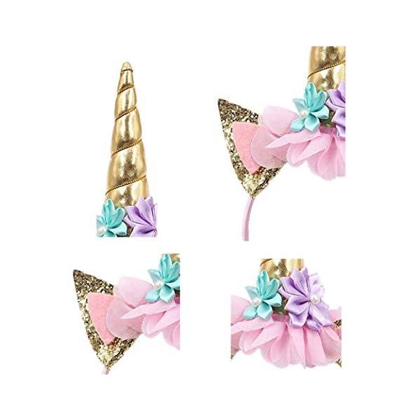 Unicorn Headband for Girls - Perfect Unicorn Party Fantasy Favor 4