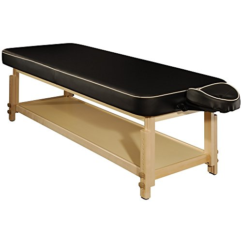 MT Harvey-Comfort Flat Stationary Massage Table for Spa, Salon, Beauty Use(Black)