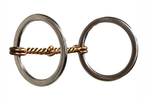 Twisted Snaffle Bit - The Colorado Saddlery Twisted Copper Wire Ring Snaffle Bit, Stainless Steel