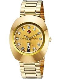 Mens R12413493 Original Gold Dial Watch. Rado
