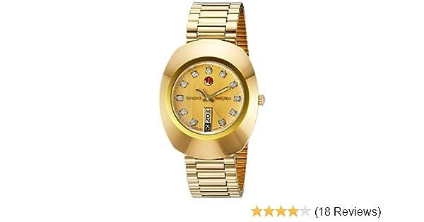 8f4e58bdd Amazon.com: Rado Men's R12413493 Original Gold Dial Watch: Rado: Watches