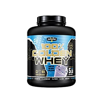 100 Golden Whey Blueberry Muffin Premium 100 Whey Protein Powder, High Protein, Low Fat, Low Carb, Complete Amino Acid Profile 5-Pounds