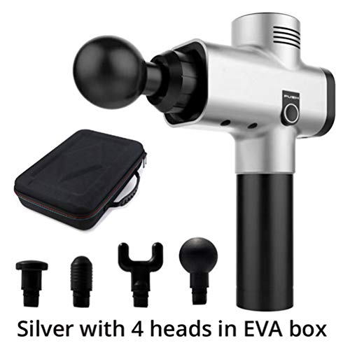 Personal Percussion Massage Gun with 4 Kinds Heads Trigger Point Jigsaw Massager Professional Cordless Device for Body Pain ()