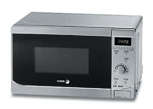 Fagor - Microondas Mo25Dgm, 800W, 20L, Congrill Simultaneo, Reloj Electronico, Programador, Metalizado Silver