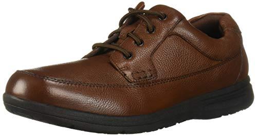 Nunn Bush Men's Cam Moc Toe Oxford Casual Lace-Up, Cognac Tumbled, 11 Wide US (Nunn Bush Colton Mens Leather Walking Shoes)