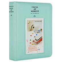 [Fuji Instax Mini 9 Photo Album] -- CAIUL Pieces Of Moment Book Album for Films of Instax Mini 7s 8 8+ 9 25 26 50s 70 90 (64 Photos, Ice Blue)