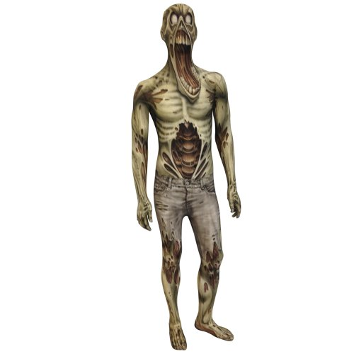 Morphsuits Kids Zombie Monster Costume - Large 4'-4'6/10-12