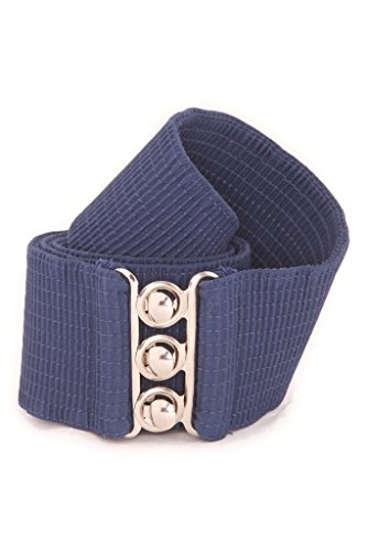 Skirt Waist Woven Elastic (Malco Modes Wide Elastic Cinch Thick Waist Belt Stretch Belt for Women, Child to Plus Sizes)
