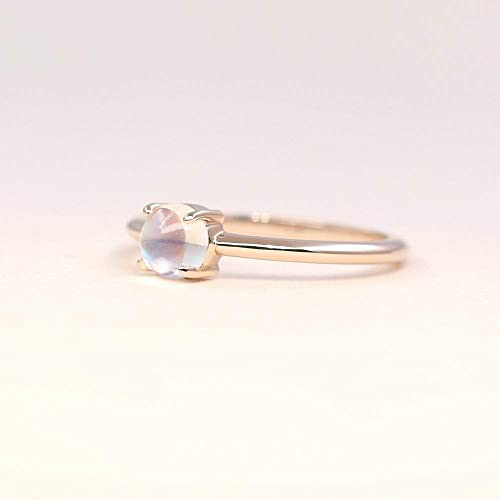 Simple Wedding Ring.Amazon Com 5mm Moonstone Solitaire Ring Dainty Moonstone