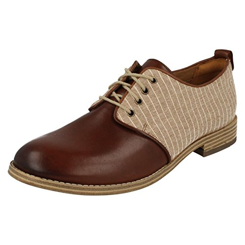 Clarks Trabajo Mujer Zapatos Zyris Toledo En Piel Marrón