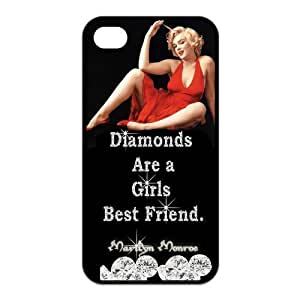 Custom Marilyn Monroe Back Cover Case for iPhone 4 4S GP-4483
