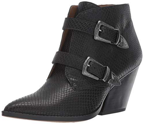 Franco Sarto Women's Granton Ankle Boot Black Snake 6.5 M US