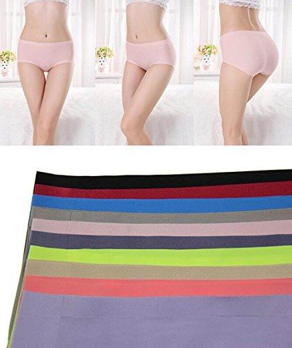 POKWAI Mujeres 3-4 Paquetes De Ropa Interior Atractiva De La Cintura Delgada Indiferente Esmalte Transpirable Color Paquete De La Cadera 6