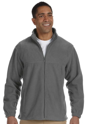 Harriton Men's 8 oz. Full-Zip Fleece - CHARCOAL - XL (Harriton Mens Full Zip Fleece)