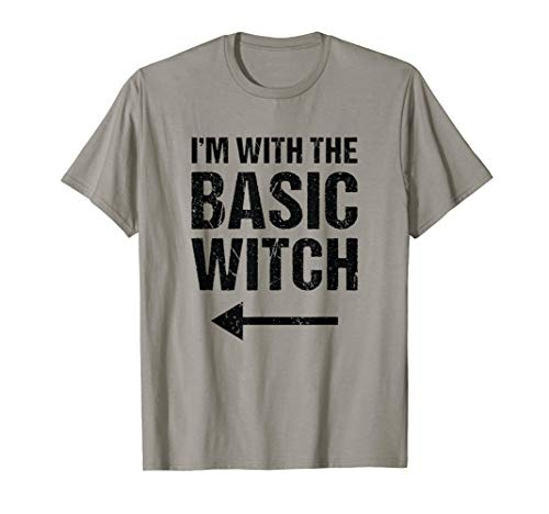 Halloween Couples Costume Shirt I'm With The Basic Witch -
