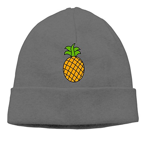 Carter Hill Cartoon Pineapple Unisex Cool Hedging Hat Wool Beanies Cap DeepHeather (Singapore Cartoon Costume)