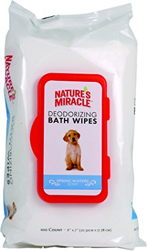 Nature's Miracle Deodorizng Spring Water Wipes, 100 Count