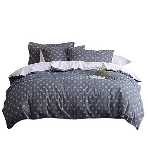 Merryfeel Yarn Dyed Check 100% Cotton Duvet Cover Set - King