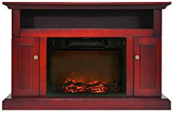 Cambridge Sorrento Fireplace Mantel with Electronic Fireplace Insert by Cambridge