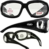 Outfitter Foam Padded Fits Over Most Prescription Eyewear Glasses Clear Lenses
