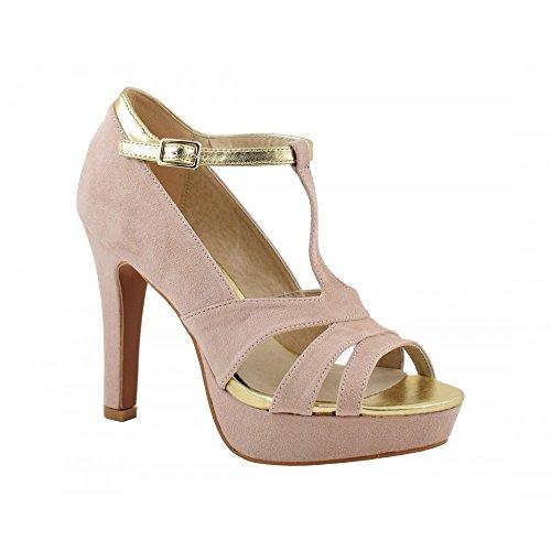 Benavente - Zapato de fiesta tacón alto beige - Benavente Beige