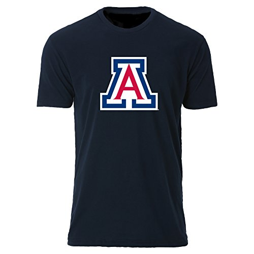 - NCAA Arizona Wildcats Men's Sueded Short Sleeve Tee, Midnight Navy, Large