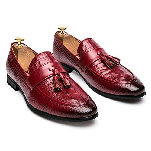 Scarpe Formale Uomini per Oxford Pelle Rosso Ufficio Gli Nappa in Scarpe Uomini RqS7HH