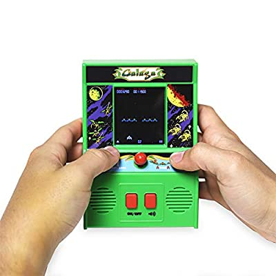 Basic Fun Galaga Mini Arcade Game (4C Screen): Toys & Games
