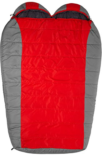 TETON Sports Tracker Ultralight Double Sleeping Bag Lightweight Backpacking Sleeping Bag for Hiking and Camping Outdoors Compression Sack Included Never Roll Your Sleeping Bag Again