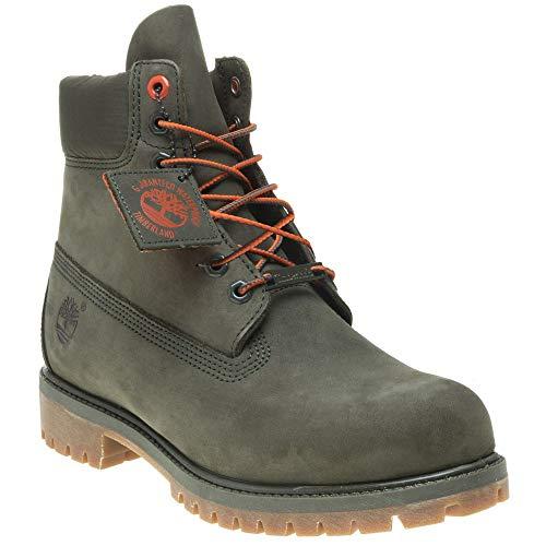 Timberland Men's 6 Inch Premium Waterproof Boots, Green, 8.5 US