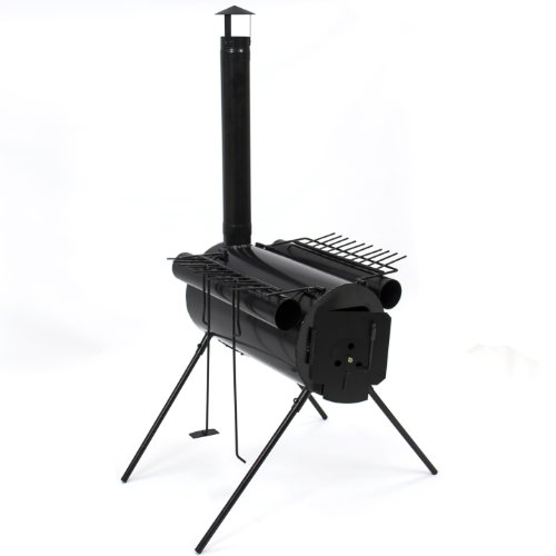 Portable Military Camping Steel Wood Stove Tent Heater for Fishing Camp Cooking, Outdoor Stuffs