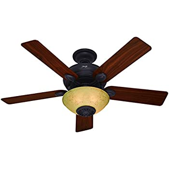 Swiss gold finish reiker room conditioner thermostatic remote hunter 59033 westover heater fan 52 inch new bronze ceiling fan with five dark walnutcherry blades and light kit aloadofball Choice Image