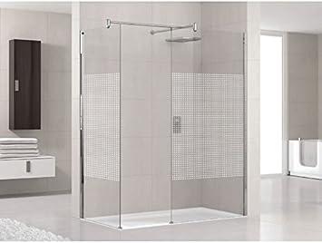 Lunes H: mampara de ducha fijo 6 mm Novellini 60 de 140 cm – 70 cm – blanco – transparente: Amazon.es: Bricolaje y herramientas
